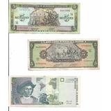 Colección De 3 Billetes De 5 Colones Del Salvador