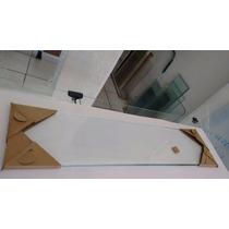 Prateleira Vidro 40cmx12cm Lapidado E Polido 8mm 2 Fendas