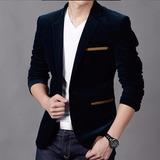 Blazer Slim Fit Luxo Casual Masculino Veludo (importado)