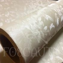Adesivo Decorativo Papel Parede Floral Bege 3d - 1m X 60cm