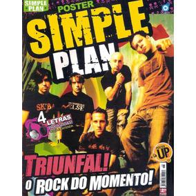 Revista Pôster Simple Plan = Poster Gigante 52cmx81cm Nova!