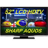 Tv De Lcd Sharp Lc-52d64u 52 Polegadas Hdmi Alta Resolucao