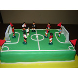 Torta Cancha De Futbol - Tortas Decoradas Infantiles/adultos