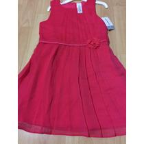 Hermoso Vestido Para Niña Marca Carters Tallas 6 Rojo