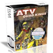 Jogo Wii Com Volante Atv Quad Kings Novo- Frete Grátis