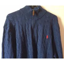 Blusa De Seda Polo Ralph Lauren Masculina Azul Xxl