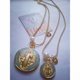 Collar San Benito Cadena Militar Medalla Grande