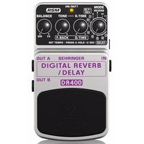 Behringer Dr400 Pedal Efectos Reveb Digital Estéreo Y Delay