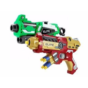 Kit 2 Pistola Lança Dardos Nerf Homem Ferro + Hulk Promoção