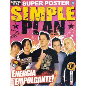Revista Pôster Simple Plan = Poster Gigante 52cm X 81cm! Uau