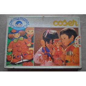 Antiguo Juego Infantil Coser Muñeca Carton Papel Antex