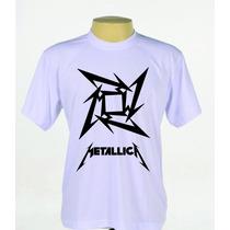 Camisa Camiseta Estampada Banda Rock Metallica Heavy Metal