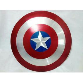 Réplica Escudo Capitão América Alça De Couro