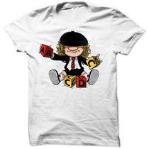 Camiseta Acdc Angus Young Baby Rock Masculina Lançamento