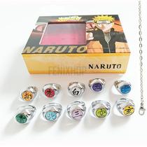 10 Anillos Akatsuki Envio Gratis + Cadena Naruto Shippuden
