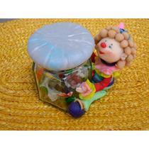 Souvenirs Cumpleaños Frasco Caramelero Payaso Bruja Animales