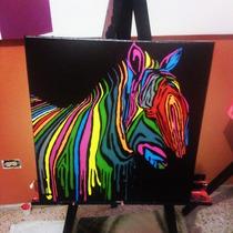 Pintura Cebra Pop Art