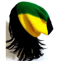Touca Gorro Beanie Lã Raggae Jamaica Fotos Reais Do Produto