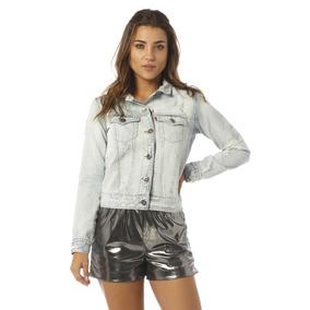 Jaqueta Jeans Feminina Regular Rasgada Denim Zero - Dz9066