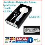 Audífonos Originales 3.5mm Caja Ipod Nano Touch Mp3 Iphone
