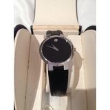 Elegante Reloj Movado Negro Dama O Caballero