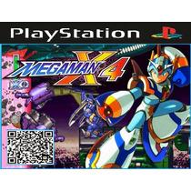Jogo Patch Megaman X4 Para Ps1 Psone Playstation Prensado