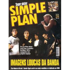 Revista Pôster Simple Plan = Poster De 42cm X 52cm! + Fotos!