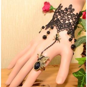 Anel Pulseira Bracelete Feminino Gótico Lolita Punk Rock Pop