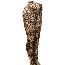 Calça Legging Animal Print, Estampa De Onça Em Suplex Novo