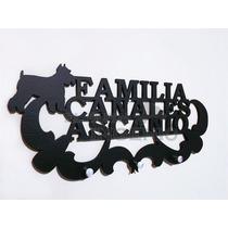 Porta Llaves Personalizado Familia Y Mascotas Portallaves