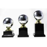 Kit 3 Mini Troféus Bola De Futebol Personalizado