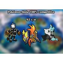 Pokémon Competitivo Sol Y Luna $2.00