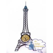 Torre Eiffel Paris Metal Reloj De Pared Vintage Clasic