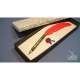 Lapicera Sepia Arte Modelo Da Vinci Portaplumas Pluma Dibujo
