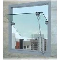 Janela Maxim Ar 0,60 X 0,60 Basculante Bascula Blindex
