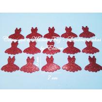 Aplique Vestido Bailarina Em Eva Glitter - Kit 10 Unidades