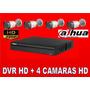 Kit Dvr4ch Dahua O Hikvision Alta Definicion Con Instalacion