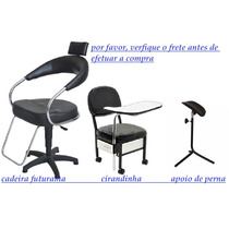 Kit Manicure: Cadeira Futurama, Cirandinha, E Apoio De Perna