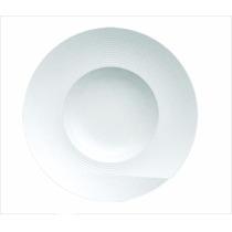 Kit 3 Prato Apresentacao Risoto Porcelana Branca 26cm R981