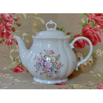 Tetera Porcelana Verbano Gran Bouquet Relieve