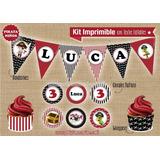 Kit Imprimible Piratas Niños Decoración Fiestas Cumpleaños
