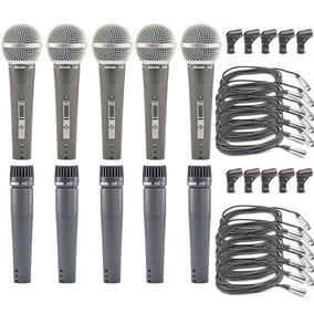 Kit 05 Microfones Arcano A-57 Ou Renius8-kit = Shure