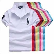 Kit Com 10 Camisa Polo Infantil Ralph Lauren Meninos Revenda