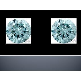 2 Diamantes Azul Agua 1.4mm 100% Naturales