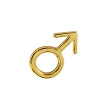 Dije Símbolo Masculino Y Cadena Ancla Chapa De Oro 22 Kilate