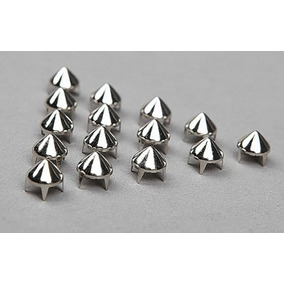 Kit 200 Tachinhas Spike Cone Prata- Tachas Short Customizado