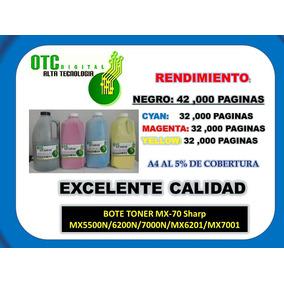 Bote Toner Mx-70 Sharp Mx5500n/6200n/7000n/mx6201/mx7001 Vbf
