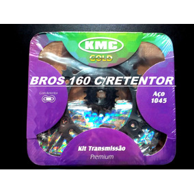 Kit Relação Completa Nxr 160 Bross 2015/16 Aço 1045 Kmc 1045