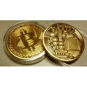 Bitcoin - Moeda Físca - Banhada A Ouro - 1 Onça