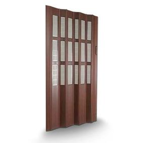 Puerta Plegadiza De Pvc Vidriada
